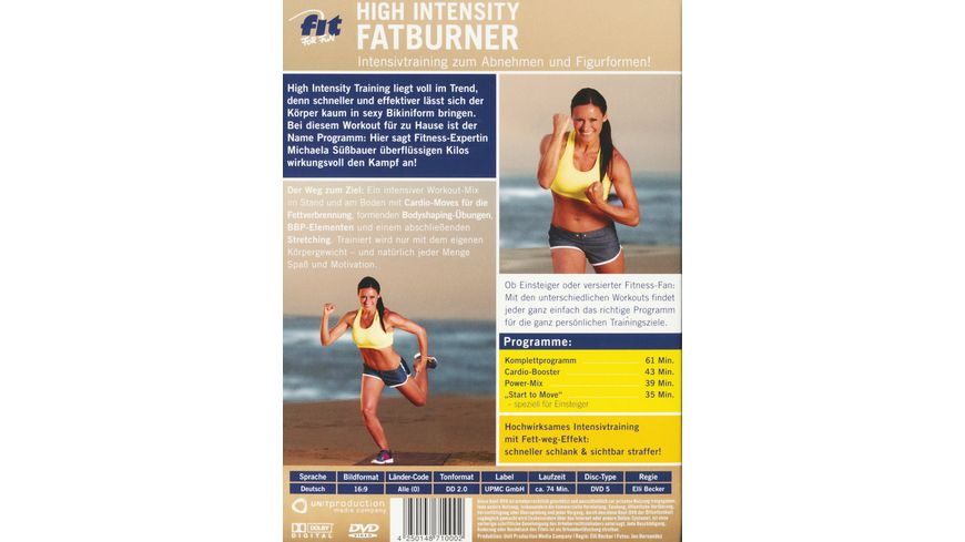 Fit For Fun High Intensity Fatburner Intensivtraining zum Abnehmen und Figurformen