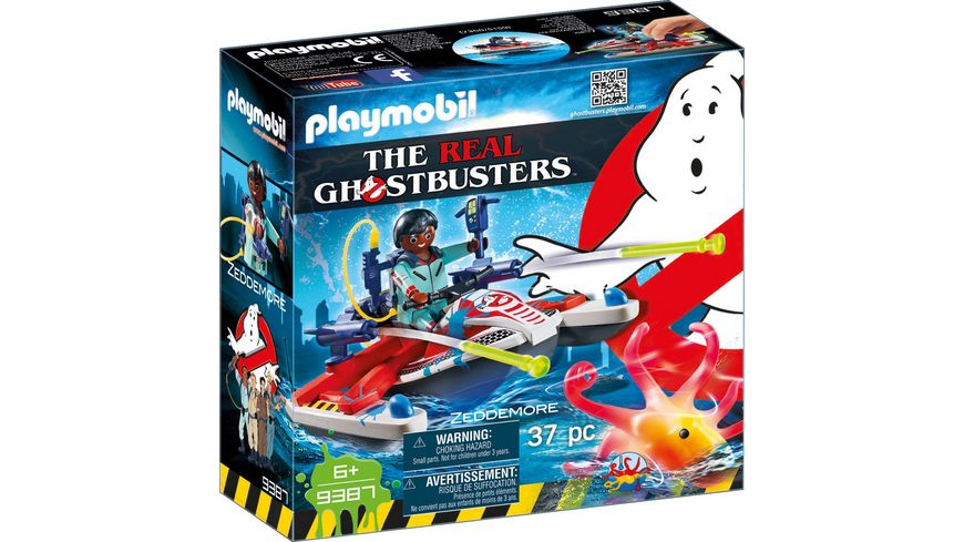 PLAYMOBIL 9387 Ghostbusters Zeddemore mit Aqua Scooter