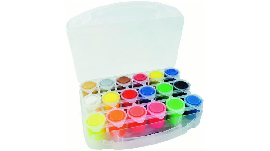 STYLEX Schulmalfarben 18 Kunststoffbecher a 25 ml