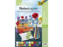 folia Naturpapier Sortimentspack 18 Blatt 23 x 33 cm