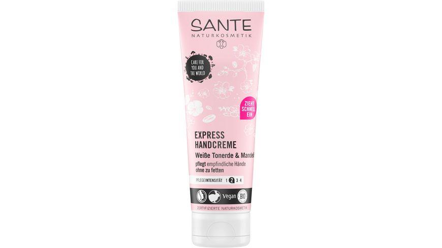 SANTE Express Handcreme Weisse Tonerde Mandeloel
