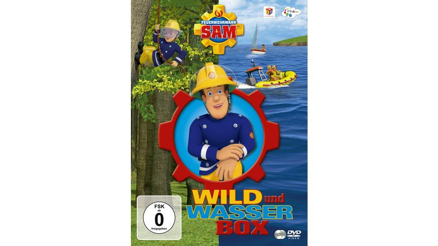 Feuerwehrmann Sam Wild Wasser Box inkl In Pontypandy wird s wild Helden auf dem Wasser 2 DVDs