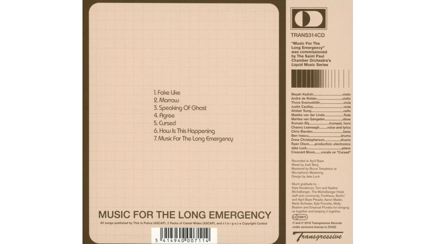 Music For The Long Emergency