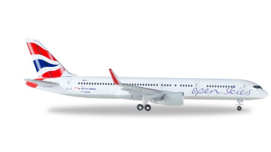 Herpa 530019 Wings Open Skies British Airways Boeing 757 200