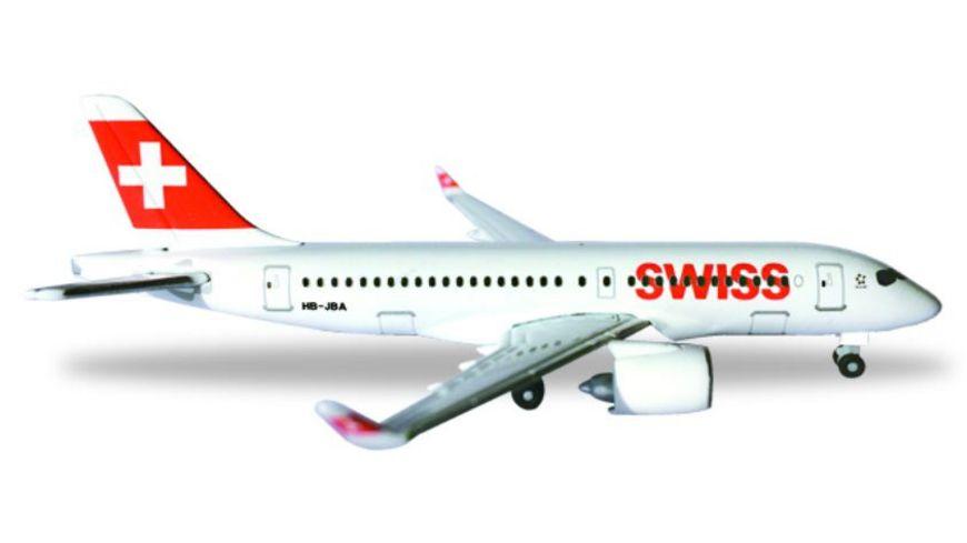 Herpa 530736 Wings Swiss International Air Lines Bombardier CS100 HB JBA