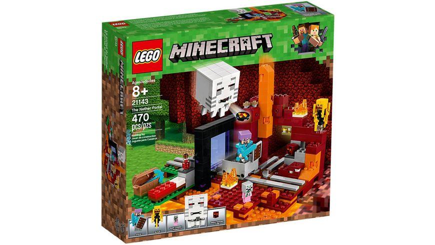 LEGO Minecraft Netherportal Online Bestellen MÜLLER - Minecraft spielen lego