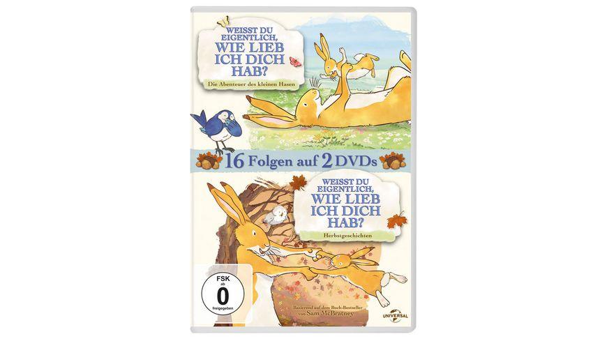Weisst du eigentlich wie lieb ich dich hab Doppelpack Abenteuer des kleinen Hasen Herbstgeschichten 2 DVDs