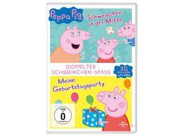 Peppa Pig Doppelpack Schweinchen in der Mitte Meine Geburtstagsparty 2 DVDs