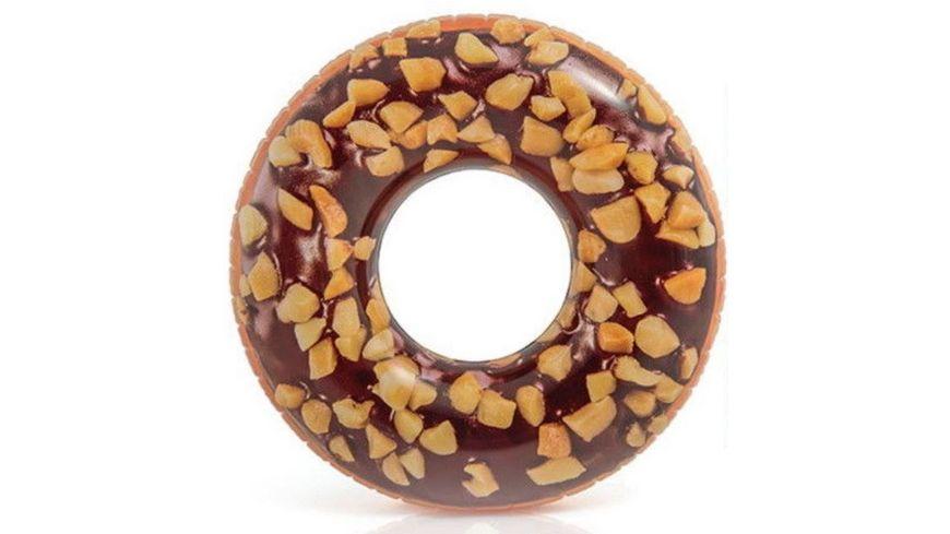 Intex Grosser Schwimmring Donut mit Schokolade und Nuessen 114 cm