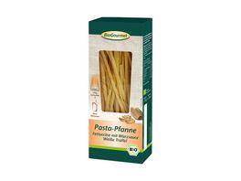 BioGourmet Pasta Pfanne Fettuccine mit Wuerzsauce Weisse Trueffel