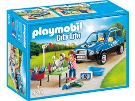 PLAYMOBIL 9278 City Life Mobiler Hundesalon