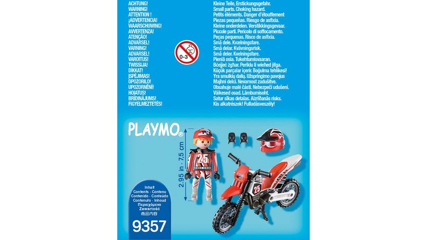 PLAYMOBIL 9357 Special Plus Motocross Fahrer