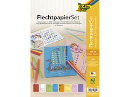 folia Flechtpapier Set A4 farblich sortiert