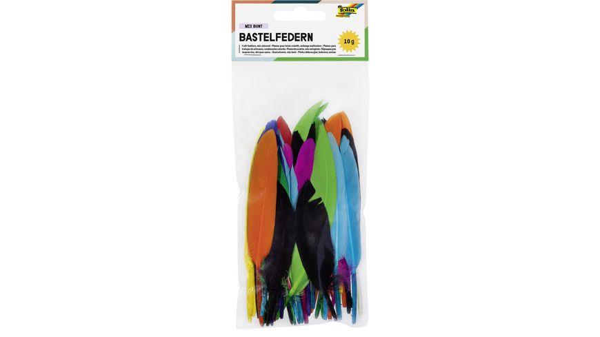 folia Indianerfedern farbig sortiert 10g