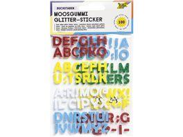 folia Glitter Moosgummi Buchstaben