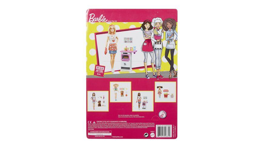 Mattel Barbie Cooking Baking Baeckerin Puppe Spielset