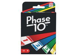 Mattel Games Phase 10 Kartenspiel Gesellschaftsspiel Familienspiel Kinderspiel