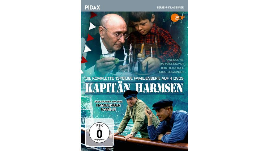 Kapitaen Harmsen Die komplette 13 teilige Familienserie Pidax Serien Klassiker 4 DVDs