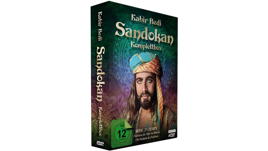Sandokan Komplettbox Der Tiger von Malaysia Die Rueckkehr des Sandokan 6 DVDs