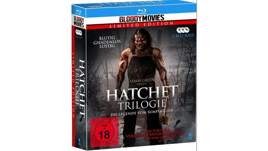 Hatchet Trilogie Bloody Movies Limited Edition 3 BRs