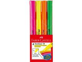 FABER CASTELL Textmarker Textliner 38 4er Packung