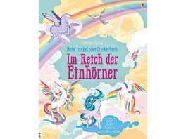 Mein funkelndes Stickerbuch Im Reich der Einhoerner