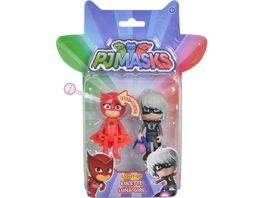 Simba PJ Masks Pyjamahelden Figuren Set Light Up Eulette und Luna