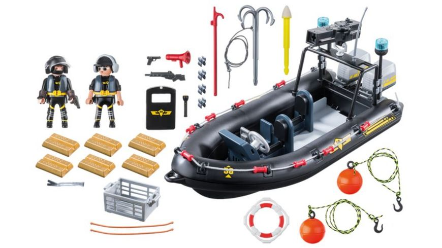 PLAYMOBIL 9362 City Action SEK Schlauchboot
