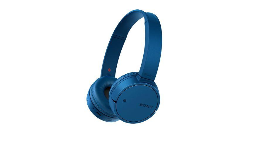 Sony Kopfhoerer Bluetooth Blau