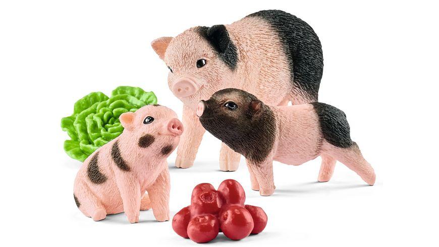 Schleich Farm World Mini Schwein Mutter und Ferkel