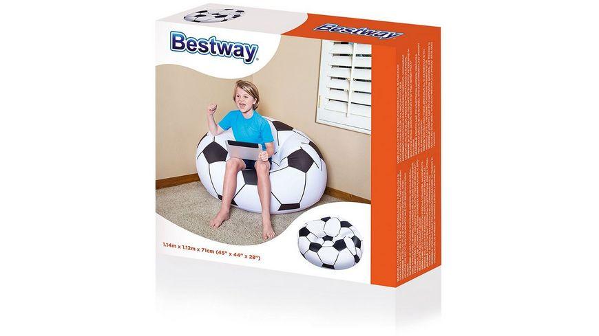 Bestway Fussballsessel fuer Kinder ca 114 x 112 x 71 cm