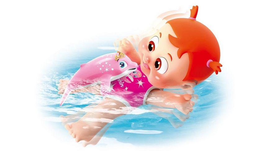 Simba 105143214 Bouncin Babies Bonny Schwimmt mit Delfin 35 cm