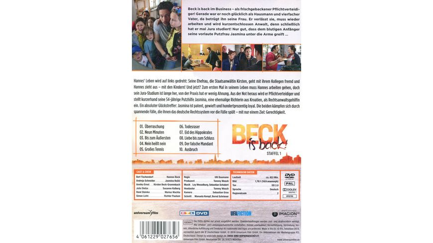 Beck is back Staffel 1 2 DVDs