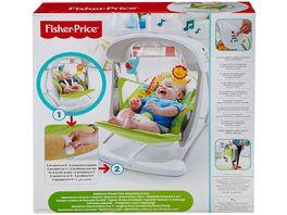 Fisher Price 2 in 1 Babyschaukel im Regenwald Design mit 6 Geschwindigkeitsstufen 10 Melodien und 2 beruhigenden Naturgeraeuschen