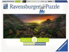 Ravensburger Puzzle Sonne ueber Island 1000 Teile