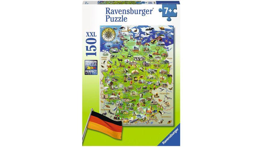Ravensburger Puzzle Meine Deutschlandkarte 150 Teile XXL