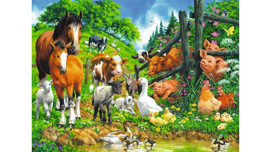 Ravensburger Puzzle Versammlung der Tiere 100 XXL Teile