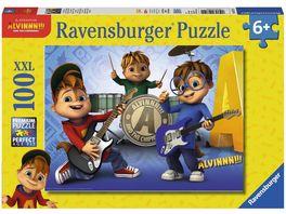Ravensburger Puzzle Alvin und die Chipmunks Alvin Simon und Theodore machen Musik 100 XXL Teile