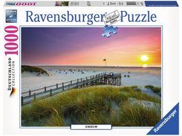Ravensburger Puzzle Sonnenuntergang ueber Amrum 1000 Teile