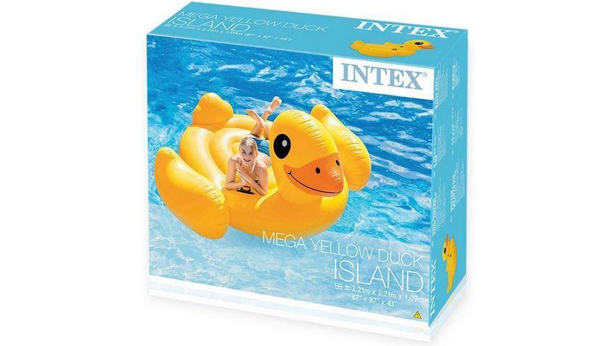 Intex Mega Yellow Duck Badeinsel 221 x 221 x 109 cm