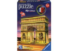Ravensburger Puzzle 3D Puzzles Triumphbogen bei Nacht 216 Teile