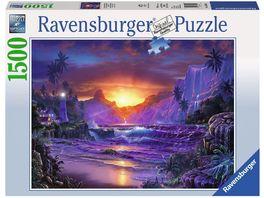 Ravensburger Puzzle Sonnenaufgang im Paradies 1500 Teile