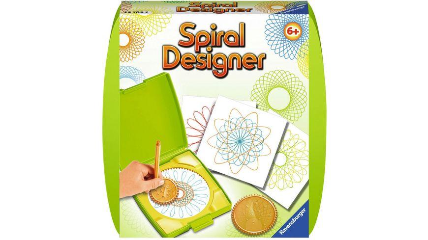 Ravensburger Beschäftigung - Mandala-Designer - Spiral-Bilder für unterwegs grün