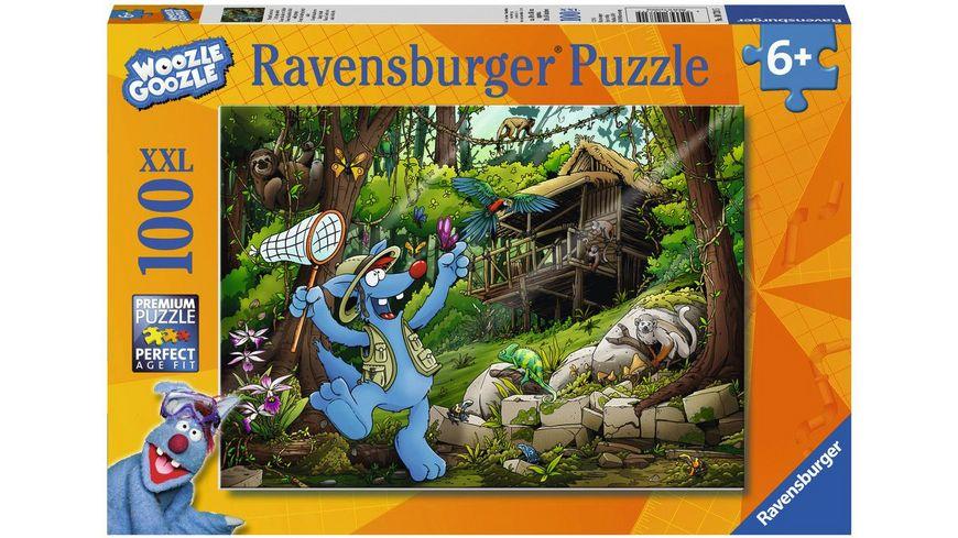 Ravensburger Puzzle Woozle Goozle auf Dschungelsafari 100 XXL Teile