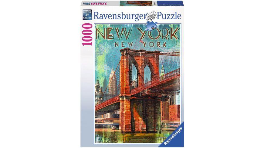 Ravensburger Puzzle Retro New York 1000 Teile