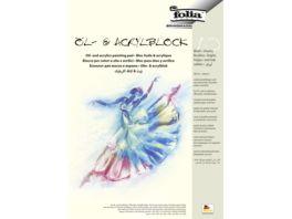 folia Oel und Acrylmalblock 10 Blatt DIN A3
