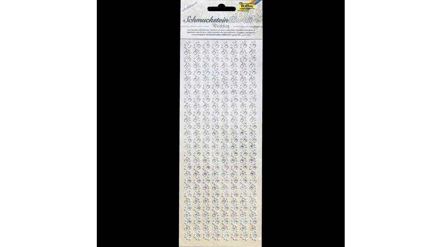 folia Schmucksteinbordueren selbstklebend Wedding 2 1 Blatt 105 x 26 cm