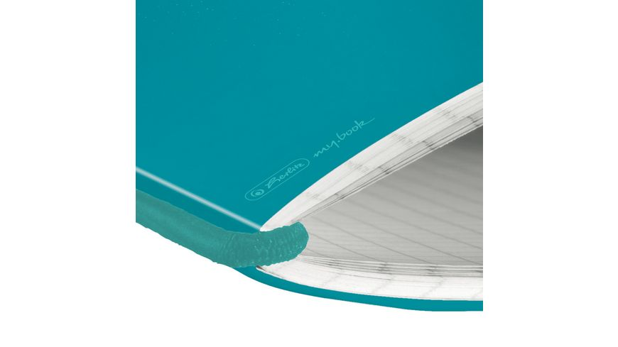 my book flex Notizheft PP A5 caribic turquoise kariert