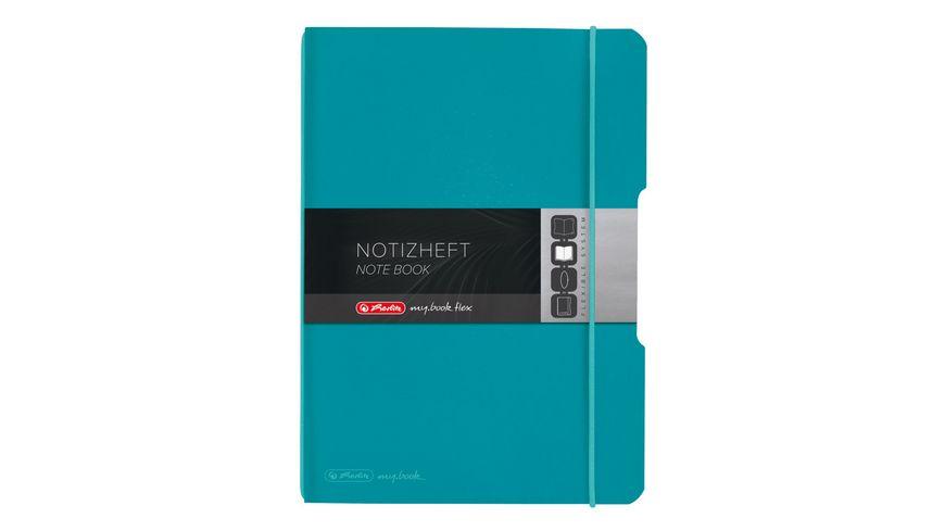herlitz my.book flex Notizheft PP A5 caribic turquoise kariert