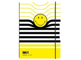 herlitz Notizheft Flex A4 Smiley Black Yellow